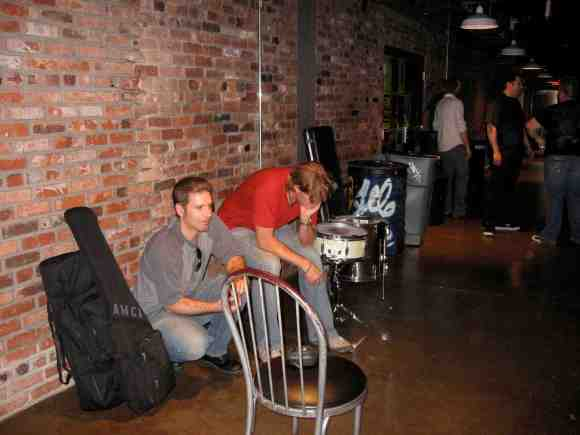 Mike, Shawn waiting to load in at the showcase downtown